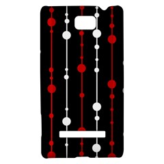 Red black and white pattern HTC 8S Hardshell Case