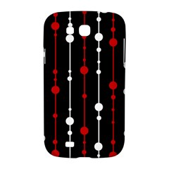 Red black and white pattern Samsung Galaxy Grand GT-I9128 Hardshell Case