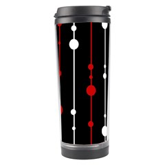 Red black and white pattern Travel Tumbler