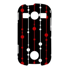 Red black and white pattern Samsung Galaxy S7710 Xcover 2 Hardshell Case