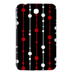 Red black and white pattern Samsung Galaxy Tab 3 (7 ) P3200 Hardshell Case