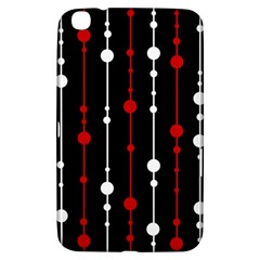 Red black and white pattern Samsung Galaxy Tab 3 (8 ) T3100 Hardshell Case