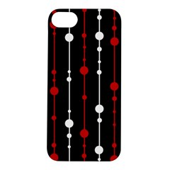 Red black and white pattern Apple iPhone 5S/ SE Hardshell Case