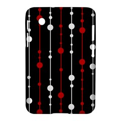 Red black and white pattern Samsung Galaxy Tab 2 (7 ) P3100 Hardshell Case