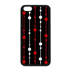 Red black and white pattern Apple iPhone 5C Seamless Case (Black)