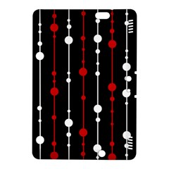 Red black and white pattern Kindle Fire HDX 8.9  Hardshell Case