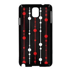 Red black and white pattern Samsung Galaxy Note 3 Neo Hardshell Case (Black)