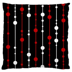 Red black and white pattern Large Flano Cushion Case (One Side)