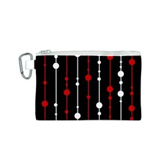 Red black and white pattern Canvas Cosmetic Bag (S)