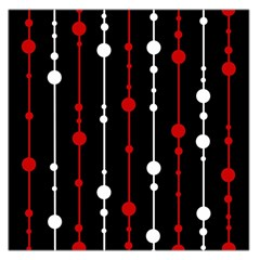 Red black and white pattern Large Satin Scarf (Square)
