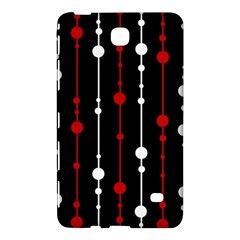 Red black and white pattern Samsung Galaxy Tab 4 (7 ) Hardshell Case