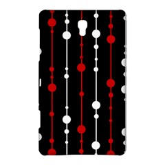 Red black and white pattern Samsung Galaxy Tab S (8.4 ) Hardshell Case