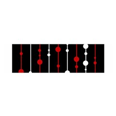 Red black and white pattern Satin Scarf (Oblong)