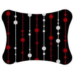 Red black and white pattern Jigsaw Puzzle Photo Stand (Bow)