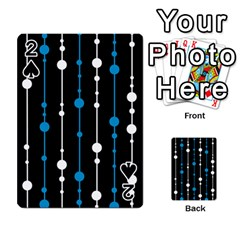 Blue, white and black pattern Playing Cards 54 Designs