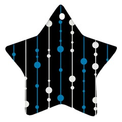 Blue, white and black pattern Star Ornament (Two Sides)