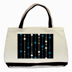 Blue, white and black pattern Basic Tote Bag (Two Sides)