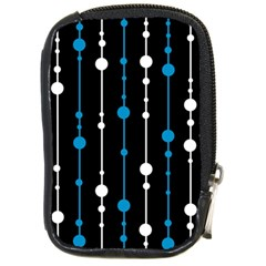 Blue, white and black pattern Compact Camera Cases