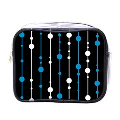 Blue, white and black pattern Mini Toiletries Bags
