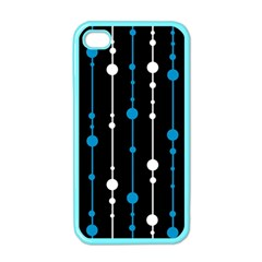 Blue, white and black pattern Apple iPhone 4 Case (Color)