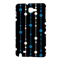 Blue, white and black pattern Samsung Galaxy Note 1 Hardshell Case