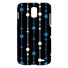 Blue, white and black pattern Samsung Galaxy S II Skyrocket Hardshell Case