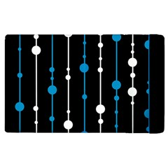 Blue, white and black pattern Apple iPad 2 Flip Case