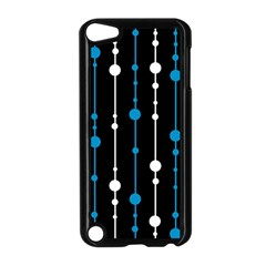 Blue, white and black pattern Apple iPod Touch 5 Case (Black)