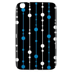 Blue, white and black pattern Samsung Galaxy Tab 3 (8 ) T3100 Hardshell Case