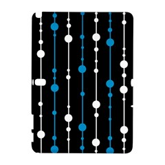 Blue, white and black pattern Samsung Galaxy Note 10.1 (P600) Hardshell Case