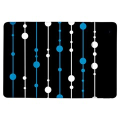 Blue, white and black pattern iPad Air Flip