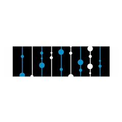 Blue, white and black pattern Satin Scarf (Oblong)