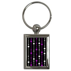 Purple, black and white pattern Key Chains (Rectangle)