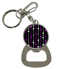 Purple, black and white pattern Bottle Opener Key Chains