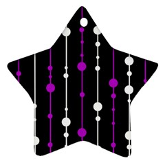 Purple, black and white pattern Star Ornament (Two Sides)