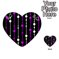 Purple, black and white pattern Playing Cards 54 (Heart)