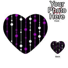 Purple, black and white pattern Multi-purpose Cards (Heart)