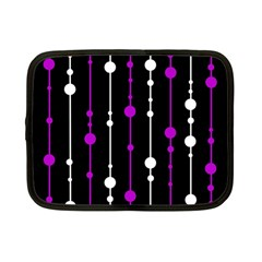 Purple, black and white pattern Netbook Case (Small)