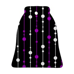 Purple, black and white pattern Ornament (Bell)