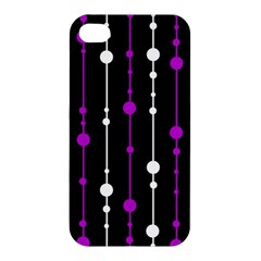 Purple, black and white pattern Apple iPhone 4/4S Hardshell Case