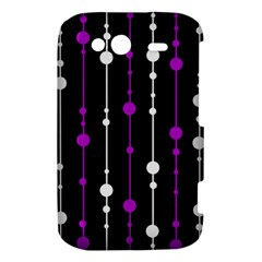 Purple, black and white pattern HTC Wildfire S A510e Hardshell Case