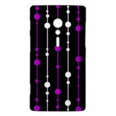 Purple, black and white pattern Sony Xperia ion