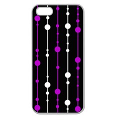 Purple, black and white pattern Apple Seamless iPhone 5 Case (Clear)