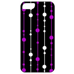 Purple, black and white pattern Apple iPhone 5 Classic Hardshell Case