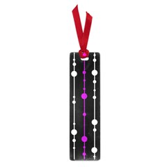 Purple, black and white pattern Small Book Marks