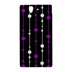 Purple, black and white pattern Sony Xperia Z