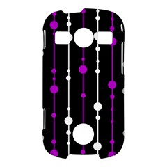 Purple, black and white pattern Samsung Galaxy S7710 Xcover 2 Hardshell Case