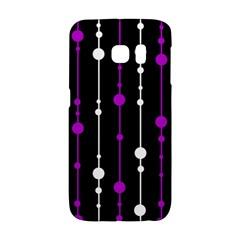 Purple, black and white pattern Galaxy S6 Edge