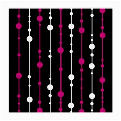 Magenta white and black pattern Medium Glasses Cloth (2-Side)
