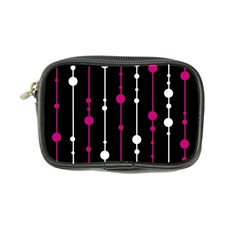 Magenta white and black pattern Coin Purse